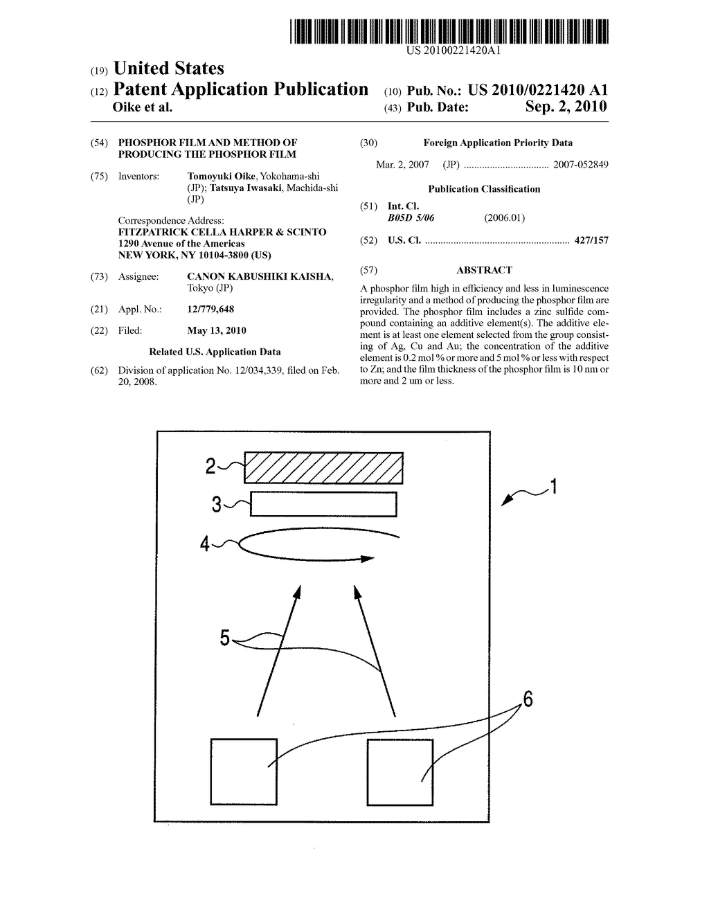 PHOSPHOR FILM AND METHOD OF PRODUCING THE PHOSPHOR FILM - diagram, schematic, and image 01
