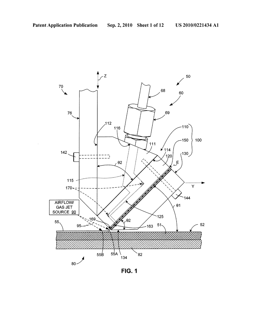 Micro-Extrusion System With Airjet Assisted Bead Deflection - diagram, schematic, and image 02