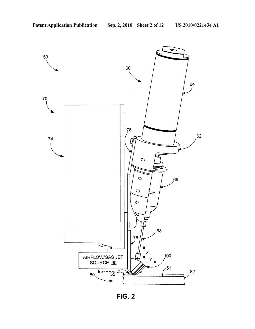 Micro-Extrusion System With Airjet Assisted Bead Deflection - diagram, schematic, and image 03