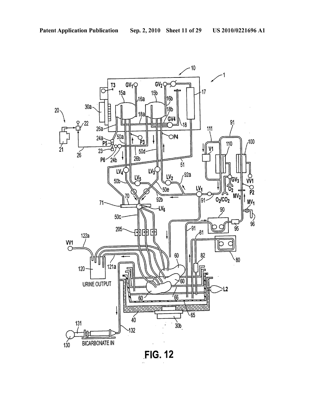 Apparatus and method for maintaining and/or restoring viability of organs - diagram, schematic, and image 12