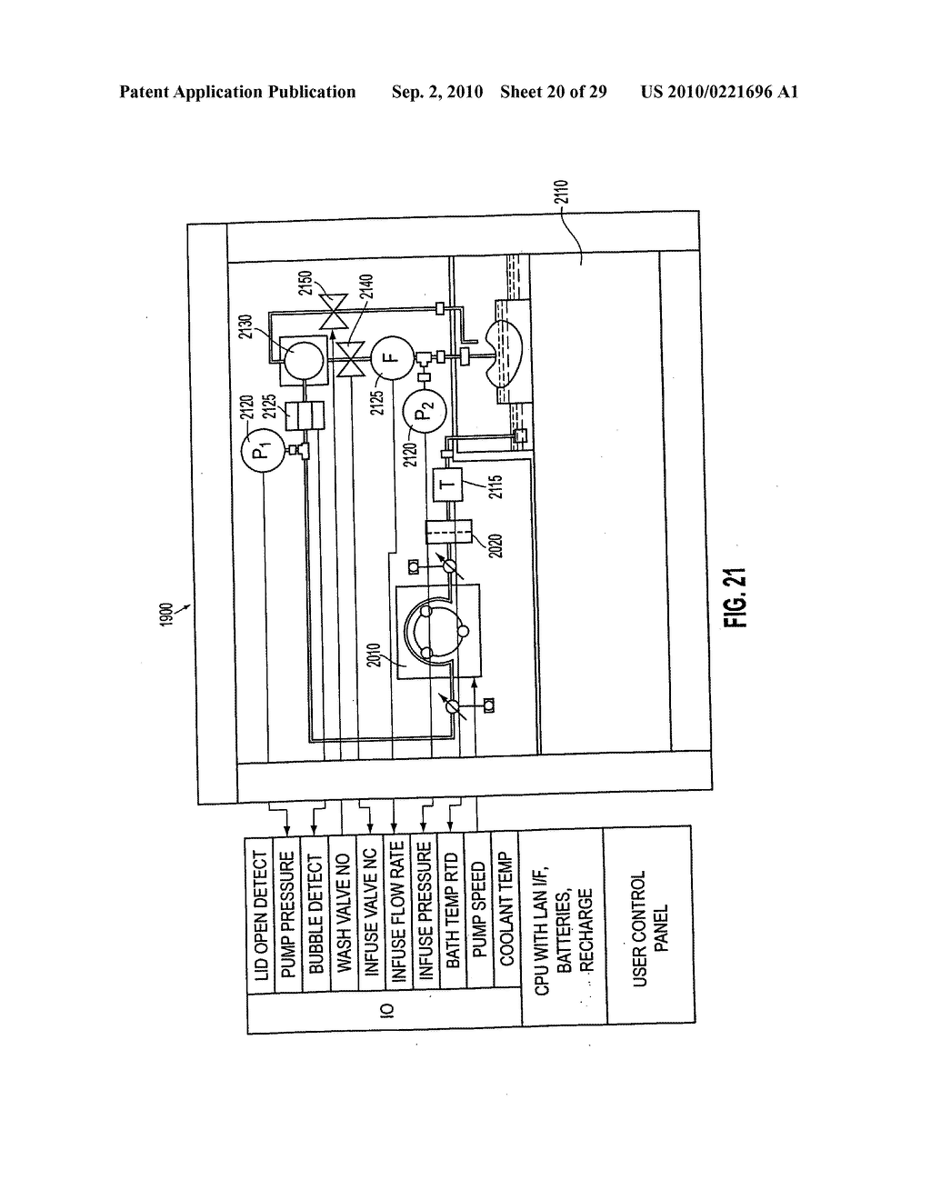 Apparatus and method for maintaining and/or restoring viability of organs - diagram, schematic, and image 21