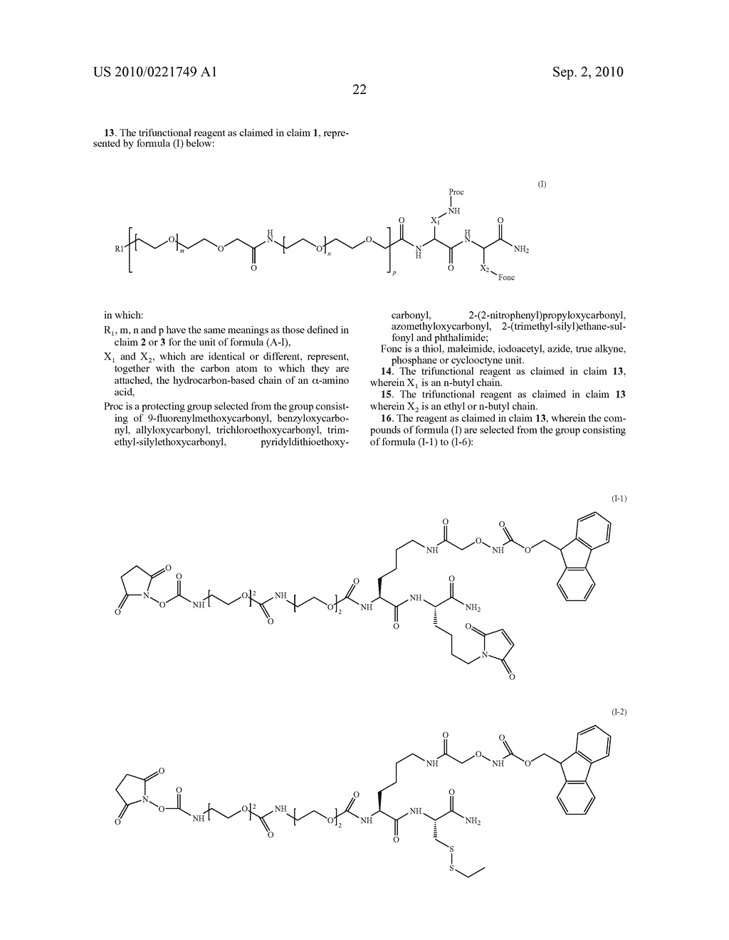 THREE-FUNCTIONAL PSEUDO-PEPTIDIC REAGENT, AND USES AND APPLICATIONS THEREOF - diagram, schematic, and image 23