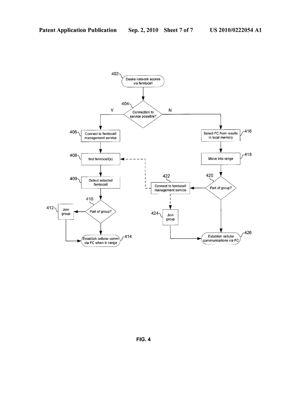 METHOD AND SYSTEM FOR CONTROLLING ACCESS AND UTILIZATION OF FEMTOCELLS VIA A NETWORK BASED SERVICE - diagram, schematic, and image 08