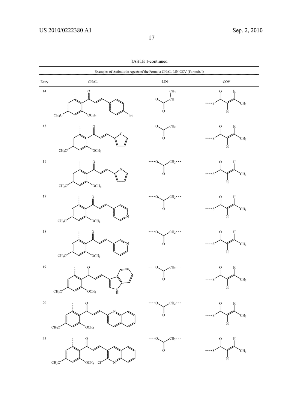Modified Chalcone Compounds as Antimitotic Agents - diagram, schematic, and image 18