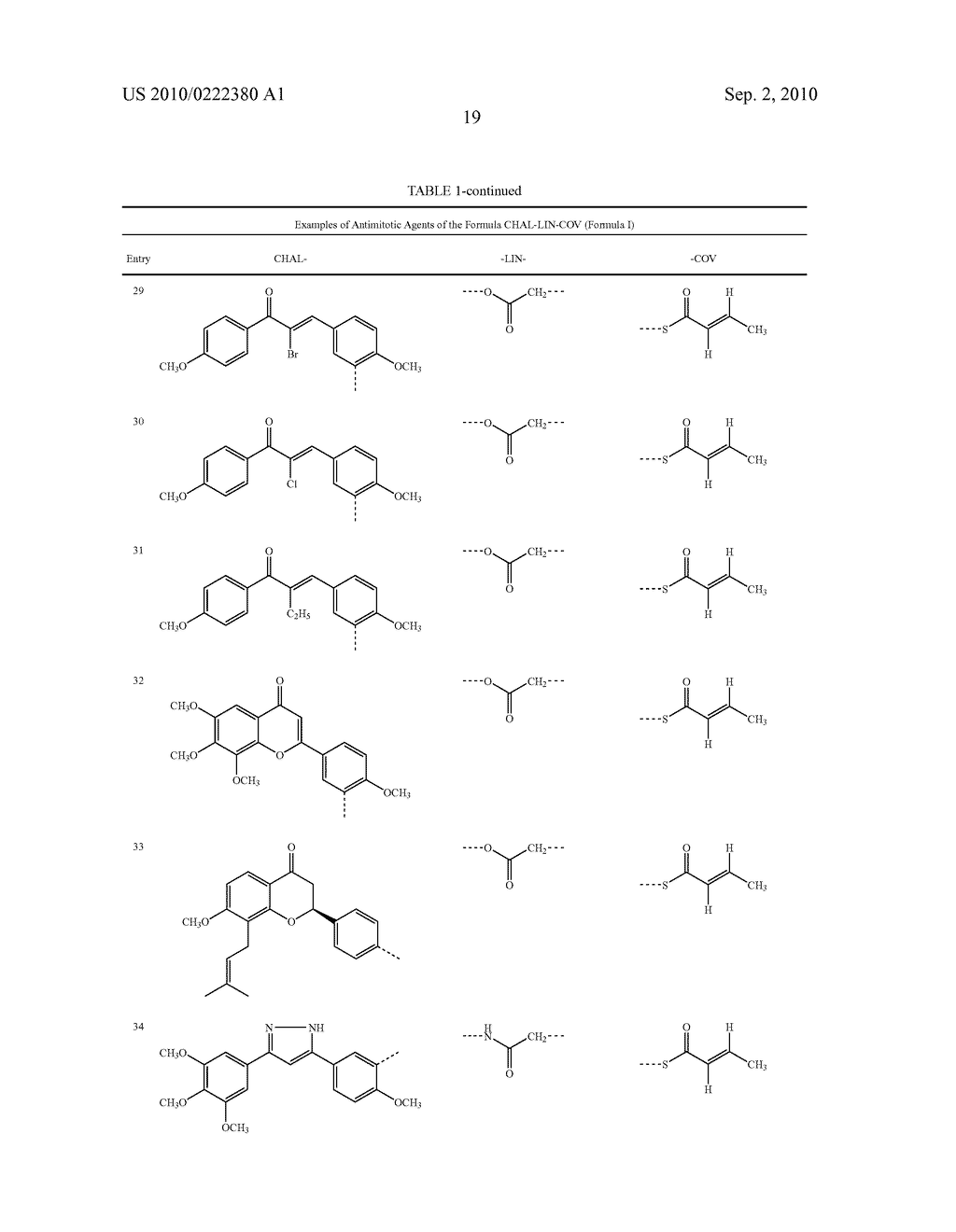 Modified Chalcone Compounds as Antimitotic Agents - diagram, schematic, and image 20