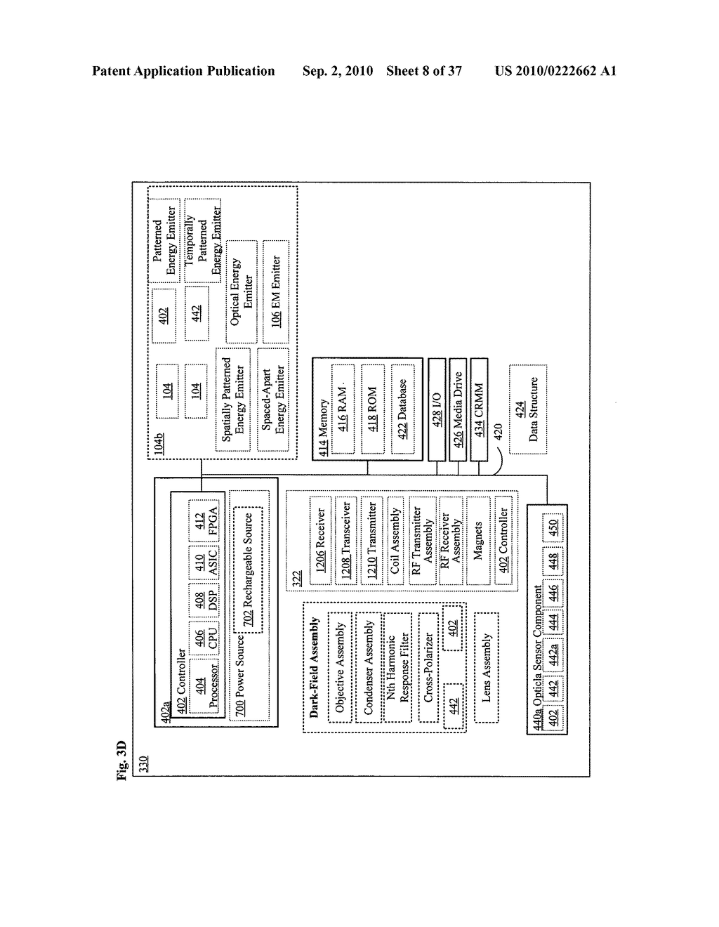 Systems, devices, and methods including paramagnetic oscillation, rotation, and translation of hemozoin asymmetric nanoparticles in response to dark-field or Rheinberg detection of the presence of hemozoin - diagram, schematic, and image 09