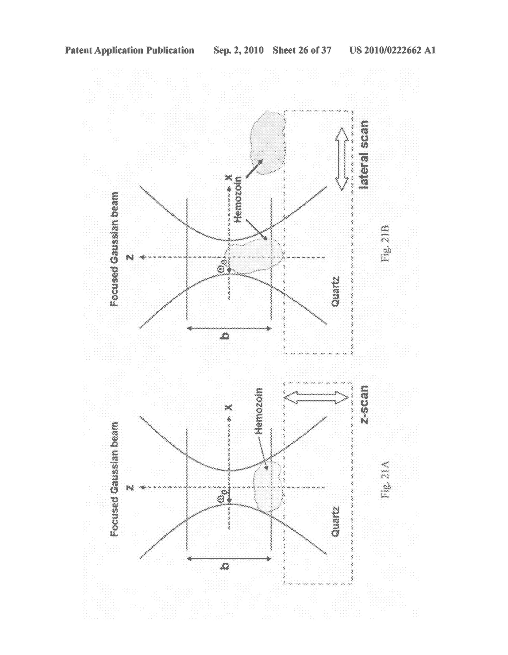 Systems, devices, and methods including paramagnetic oscillation, rotation, and translation of hemozoin asymmetric nanoparticles in response to dark-field or Rheinberg detection of the presence of hemozoin - diagram, schematic, and image 27
