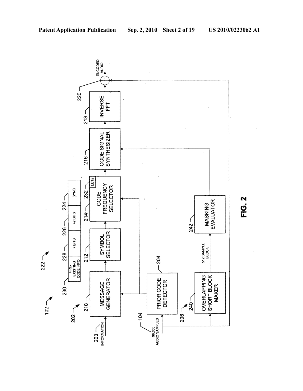 METHODS AND APPARATUS TO PERFORM AUDIO WATERMARKING AND WATERMARK DETECTION AND EXTRACTION - diagram, schematic, and image 03