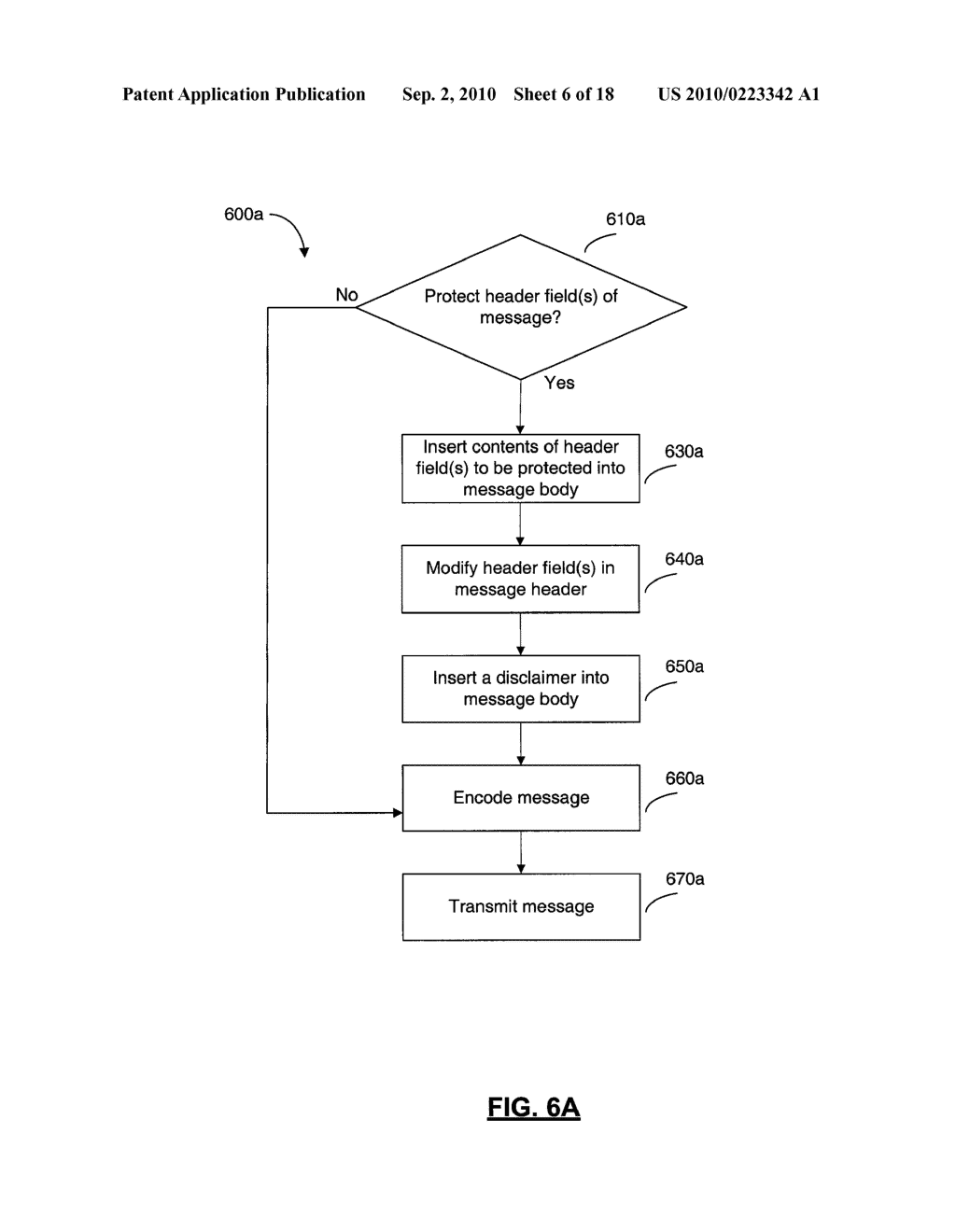 SYSTEMS AND METHODS FOR PROTECTING HEADER FIELDS IN A MESSAGE - diagram, schematic, and image 07