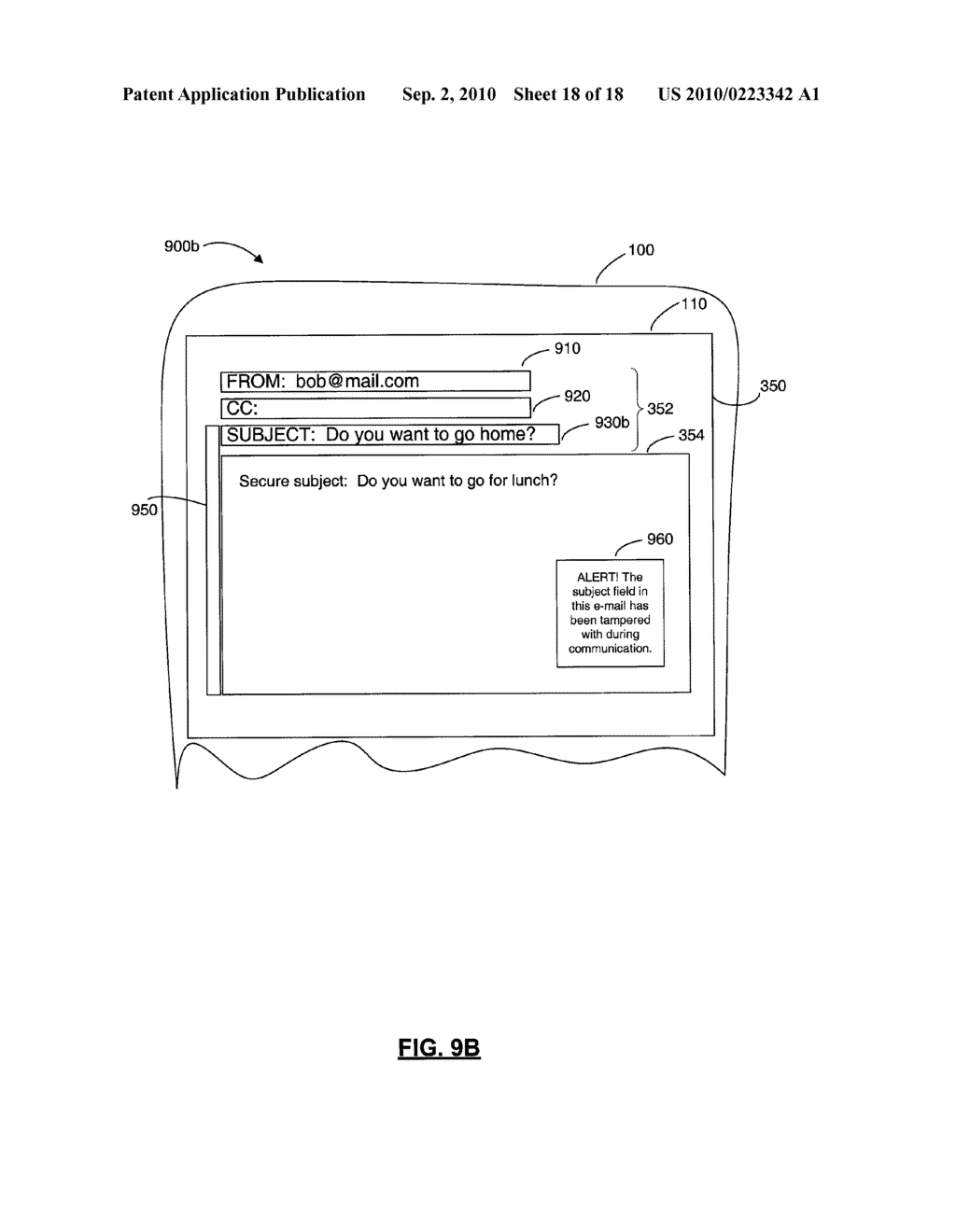 SYSTEMS AND METHODS FOR PROTECTING HEADER FIELDS IN A MESSAGE - diagram, schematic, and image 19