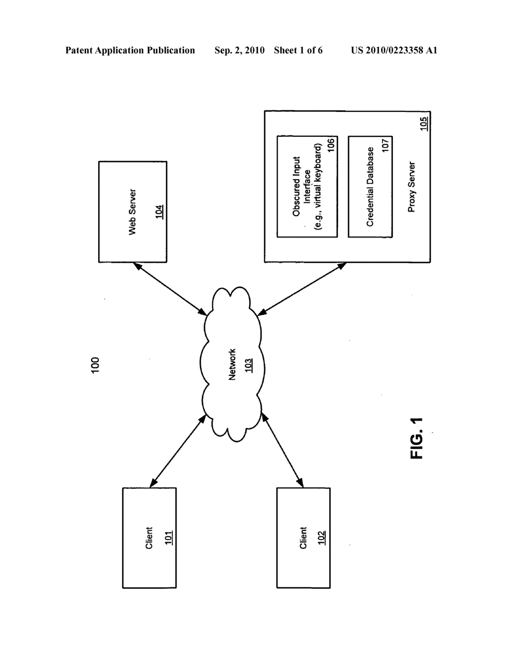 METHOD AND APPARATUS FOR THWARTING KEYLOGGERS USING PROXIES - diagram, schematic, and image 02