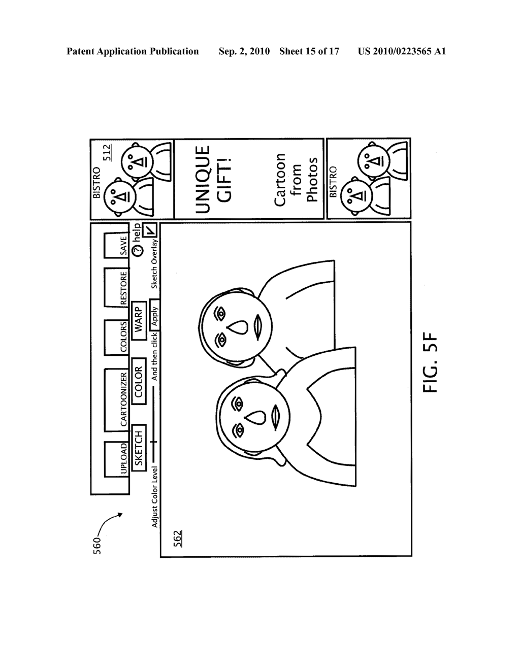 METHOD AND SYSTEM FOR PROVIDING AN IMAGE EFFECTS INTERFACE - diagram, schematic, and image 16