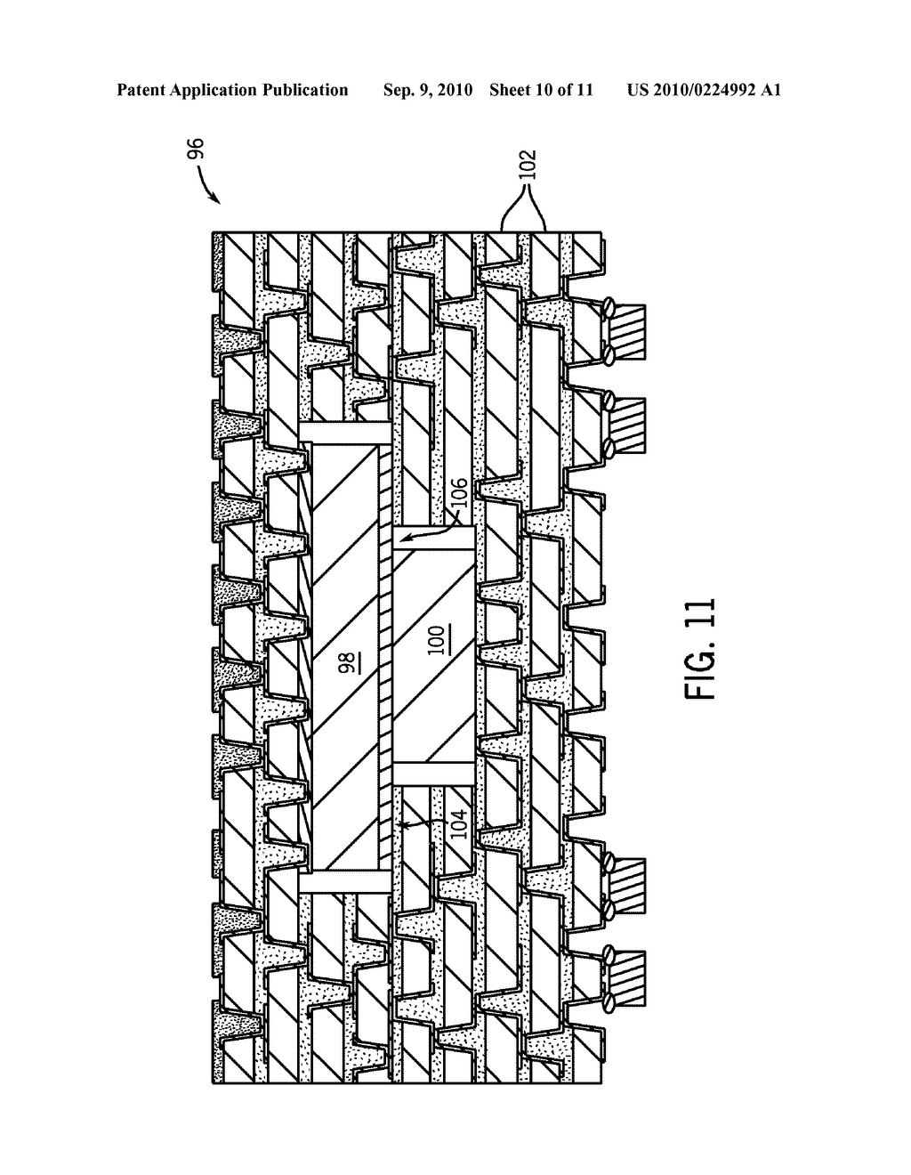 SYSTEM AND METHOD FOR STACKED DIE EMBEDDED CHIP BUILD-UP - diagram, schematic, and image 11