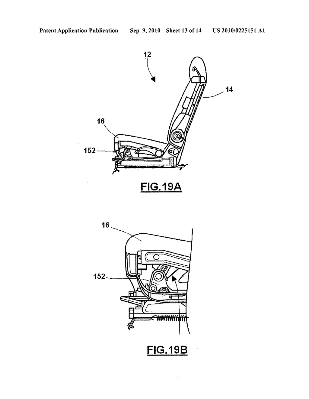 VEHICLE SEAT ACTUATION MECHANISM - diagram, schematic, and image 14