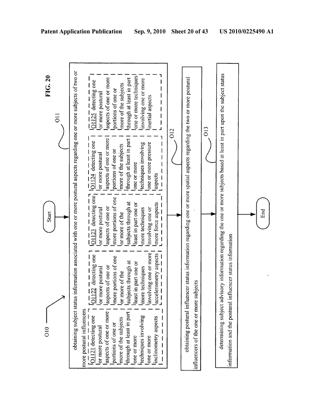 POSTURAL INFORMATION SYSTEM AND METHOD INCLUDING CENTRAL DETERMINING OF SUBJECT ADVISORY INFORMATION BASED ON SUBJECT STATUS INFORMATION AND POSTURAL INFLUENCER STATUS INFORMATION - diagram, schematic, and image 21