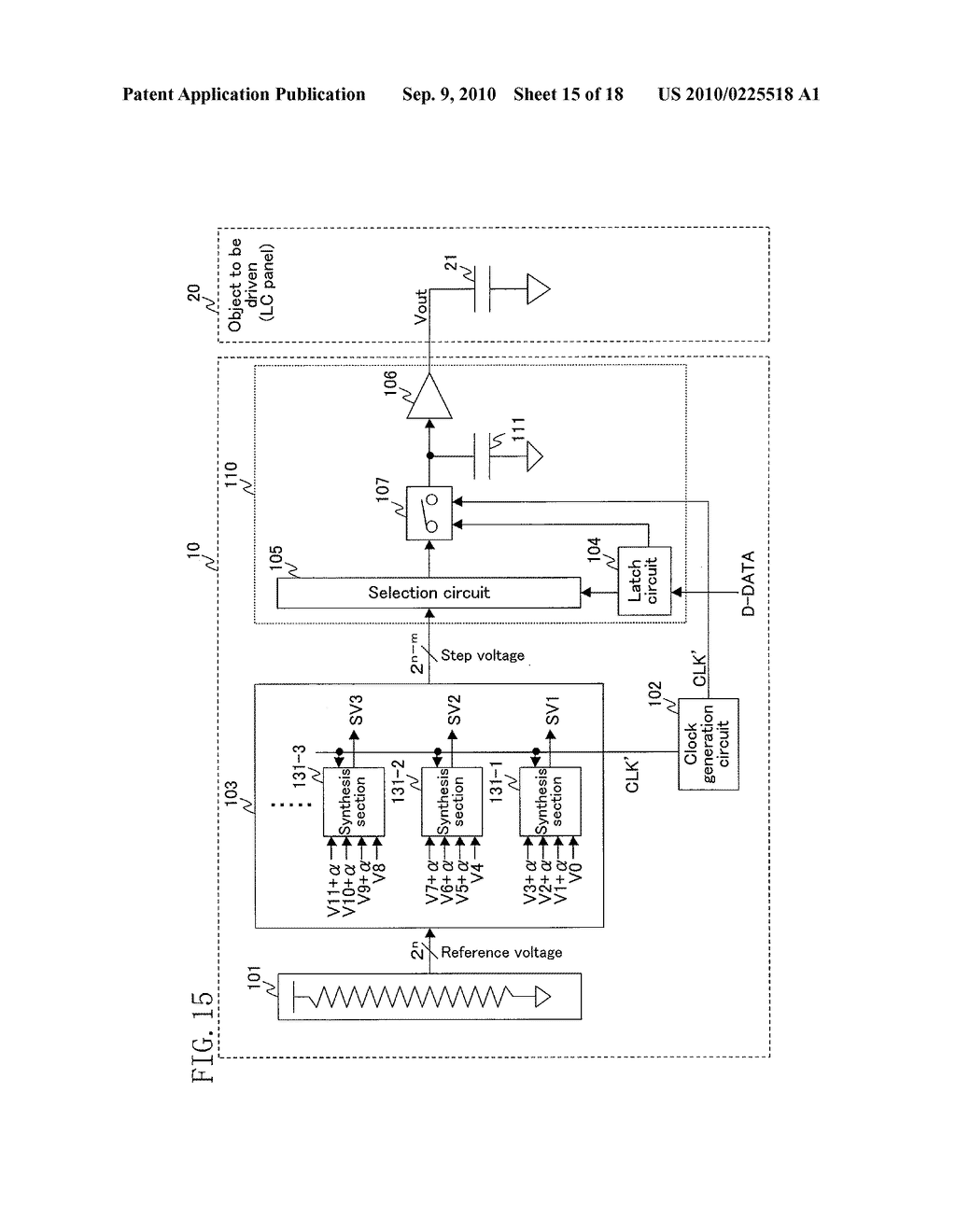 DIGITAL/ANALOG CONVERTER CIRCUIT - diagram, schematic, and image 16