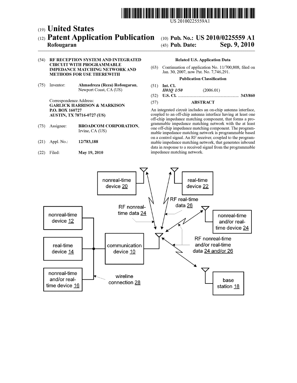 Rf Reception System And Integrated Circuit With Programmable Uses Of Impedance Matching Network Methods For Use Therewith Diagram Schematic Image 01