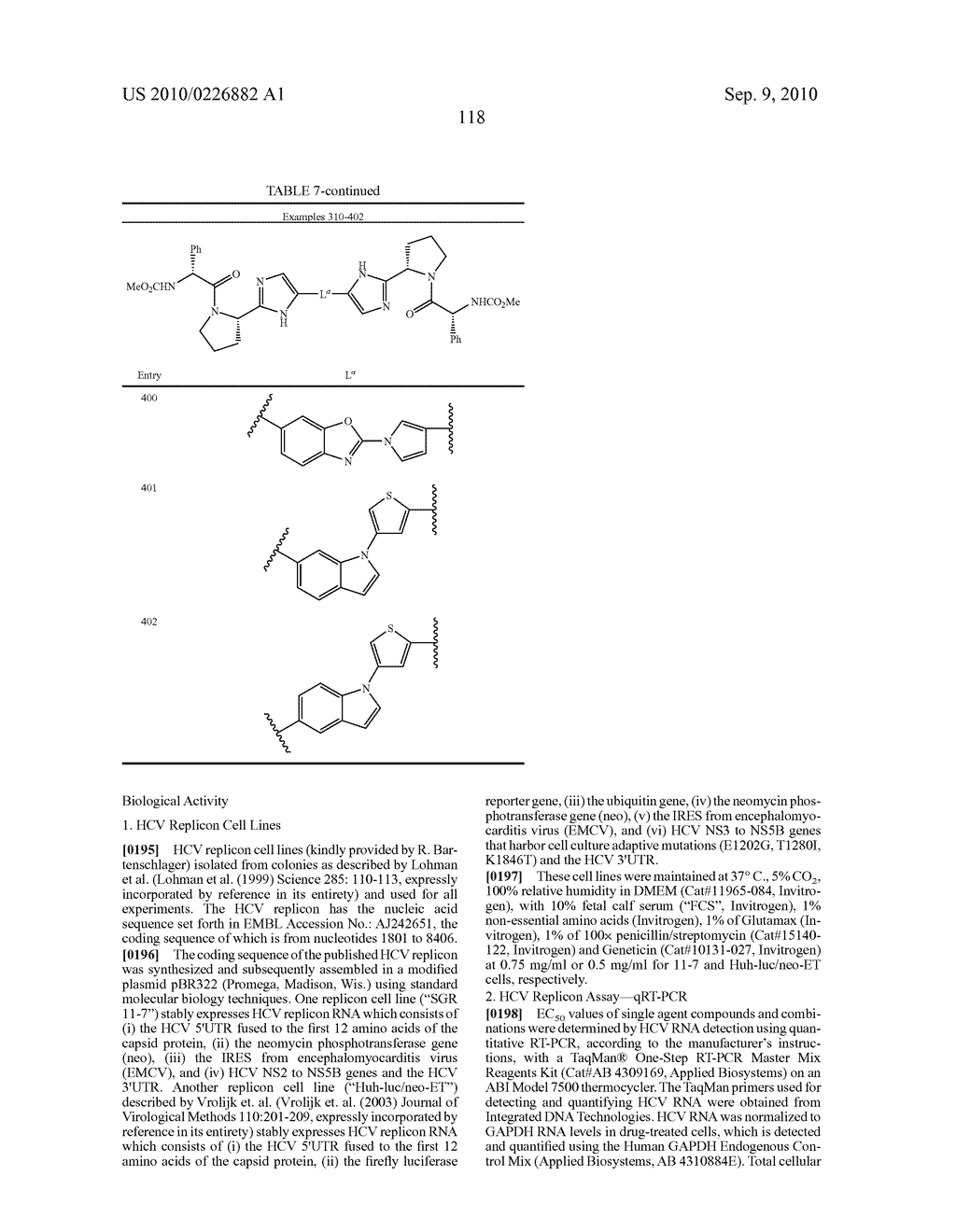 LINKED DIIMIDAZOLE ANTIVIRALS - diagram, schematic, and image 119