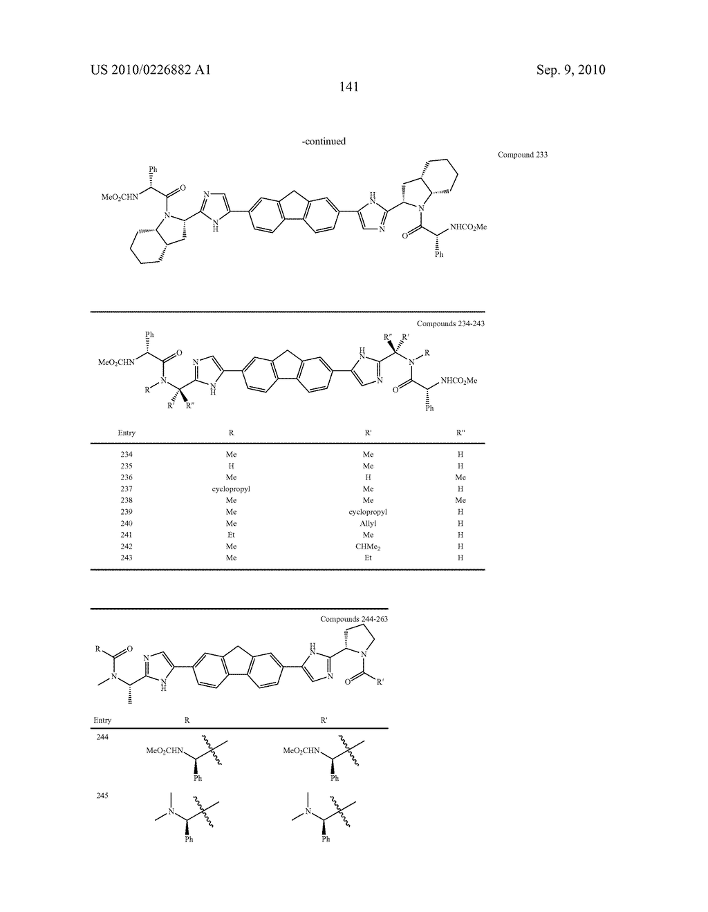 LINKED DIIMIDAZOLE ANTIVIRALS - diagram, schematic, and image 142
