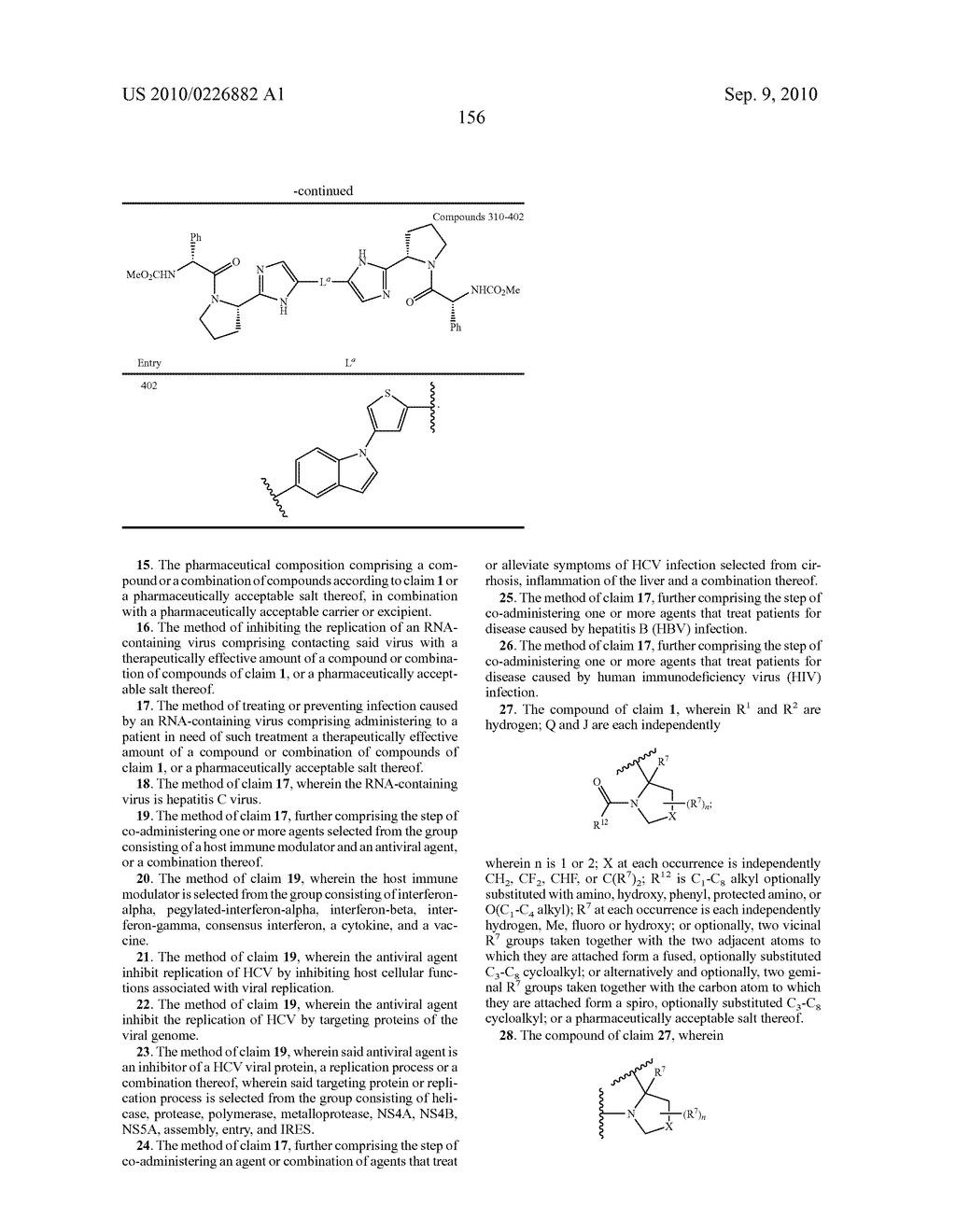 LINKED DIIMIDAZOLE ANTIVIRALS - diagram, schematic, and image 157