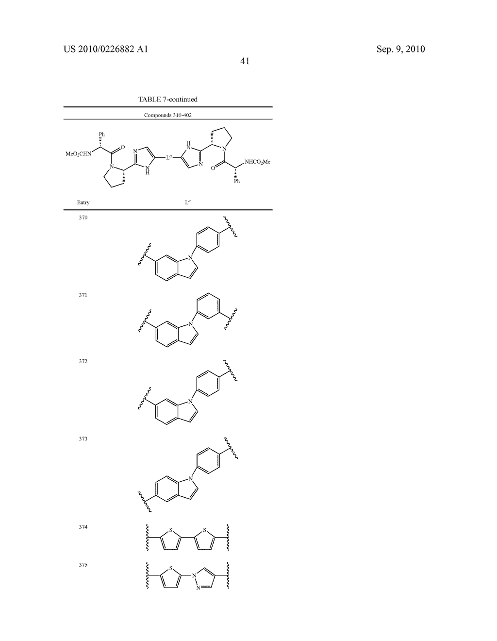 LINKED DIIMIDAZOLE ANTIVIRALS - diagram, schematic, and image 42