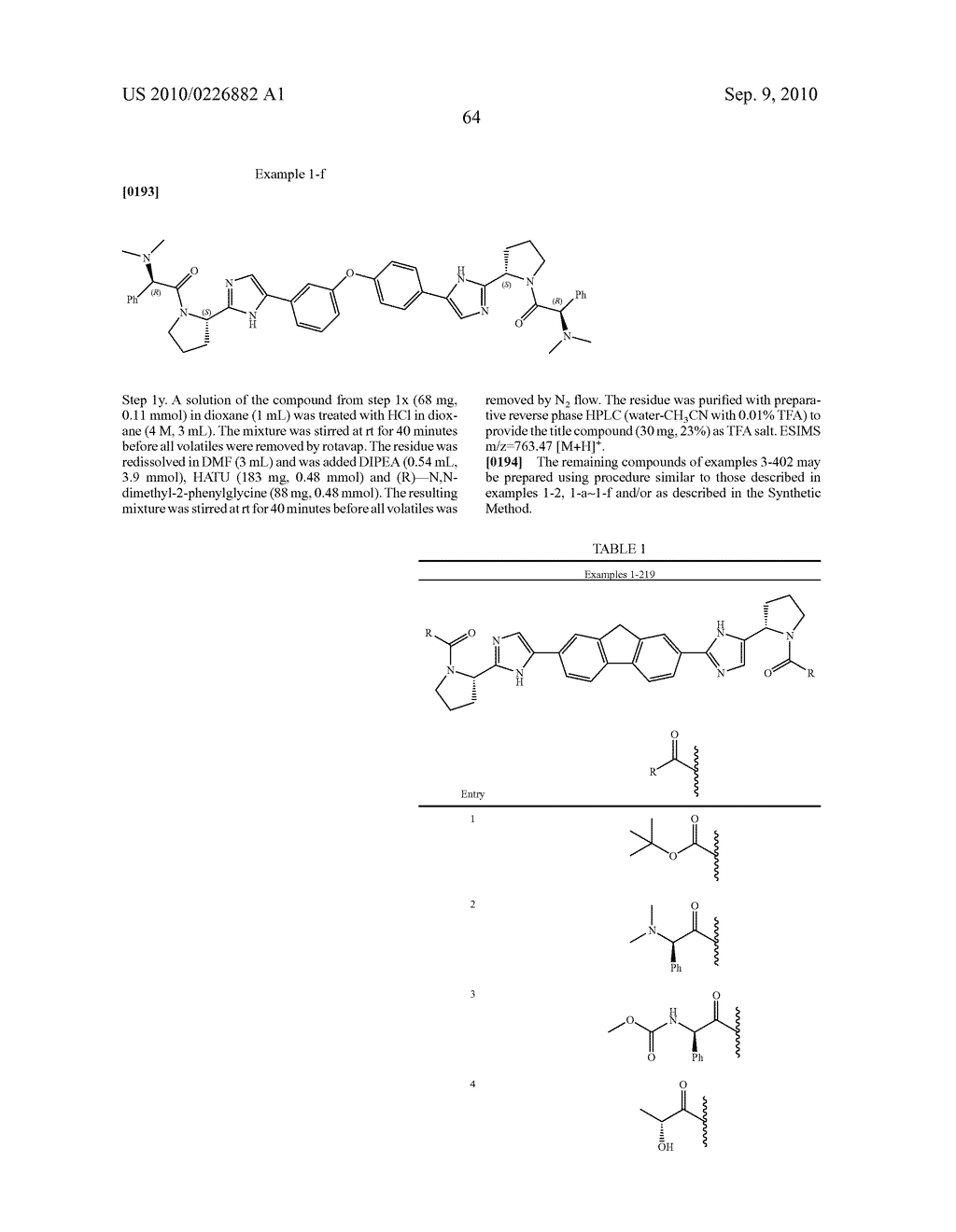 LINKED DIIMIDAZOLE ANTIVIRALS - diagram, schematic, and image 65