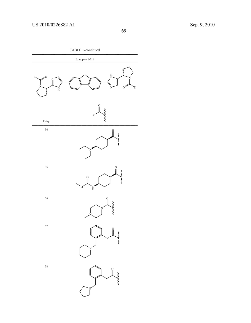 LINKED DIIMIDAZOLE ANTIVIRALS - diagram, schematic, and image 70