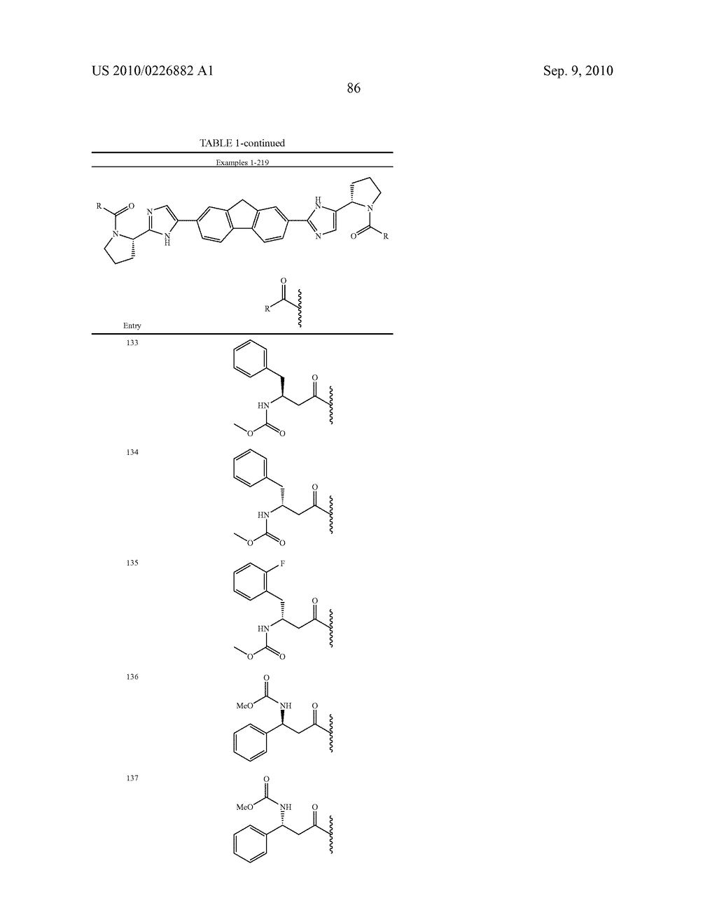 LINKED DIIMIDAZOLE ANTIVIRALS - diagram, schematic, and image 87