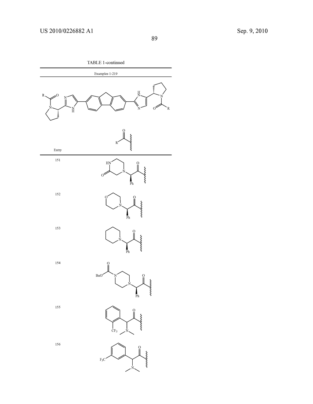 LINKED DIIMIDAZOLE ANTIVIRALS - diagram, schematic, and image 90