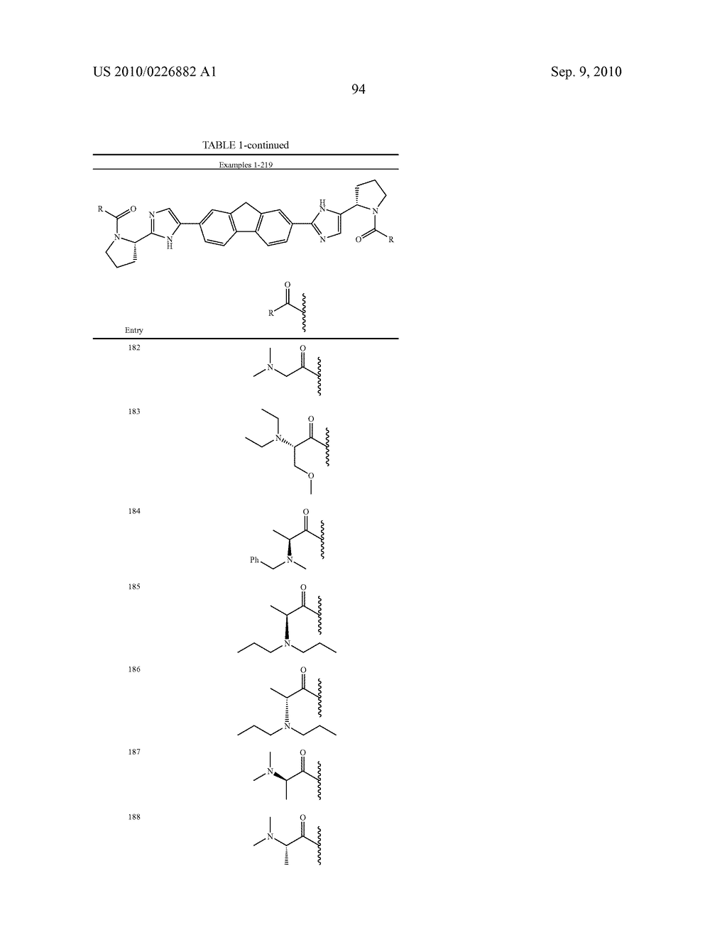 LINKED DIIMIDAZOLE ANTIVIRALS - diagram, schematic, and image 95