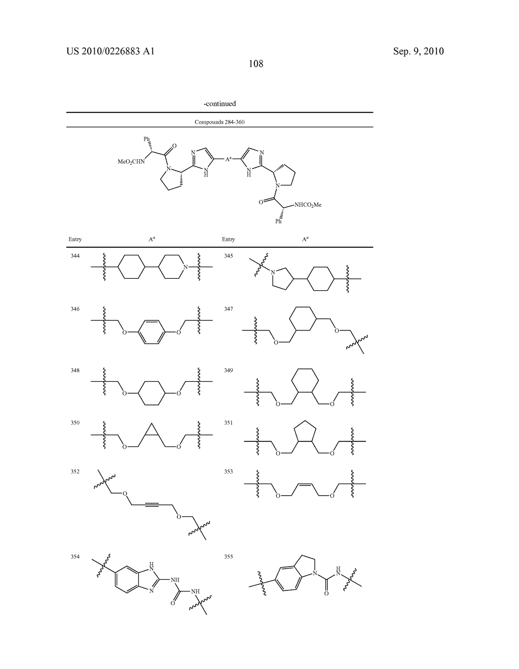 LINKED DIIMIDAZOLE DERIVATIVES - diagram, schematic, and image 109