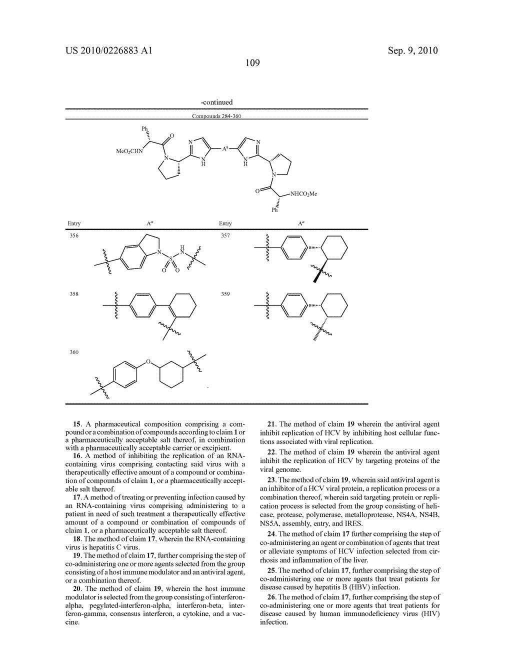 LINKED DIIMIDAZOLE DERIVATIVES - diagram, schematic, and image 110