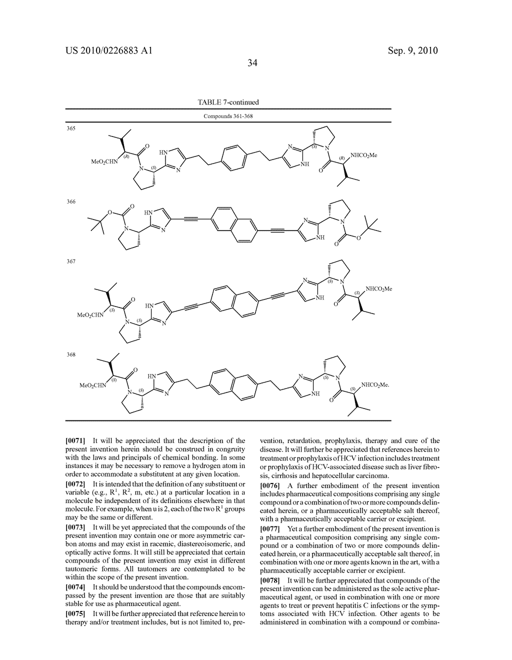 LINKED DIIMIDAZOLE DERIVATIVES - diagram, schematic, and image 35