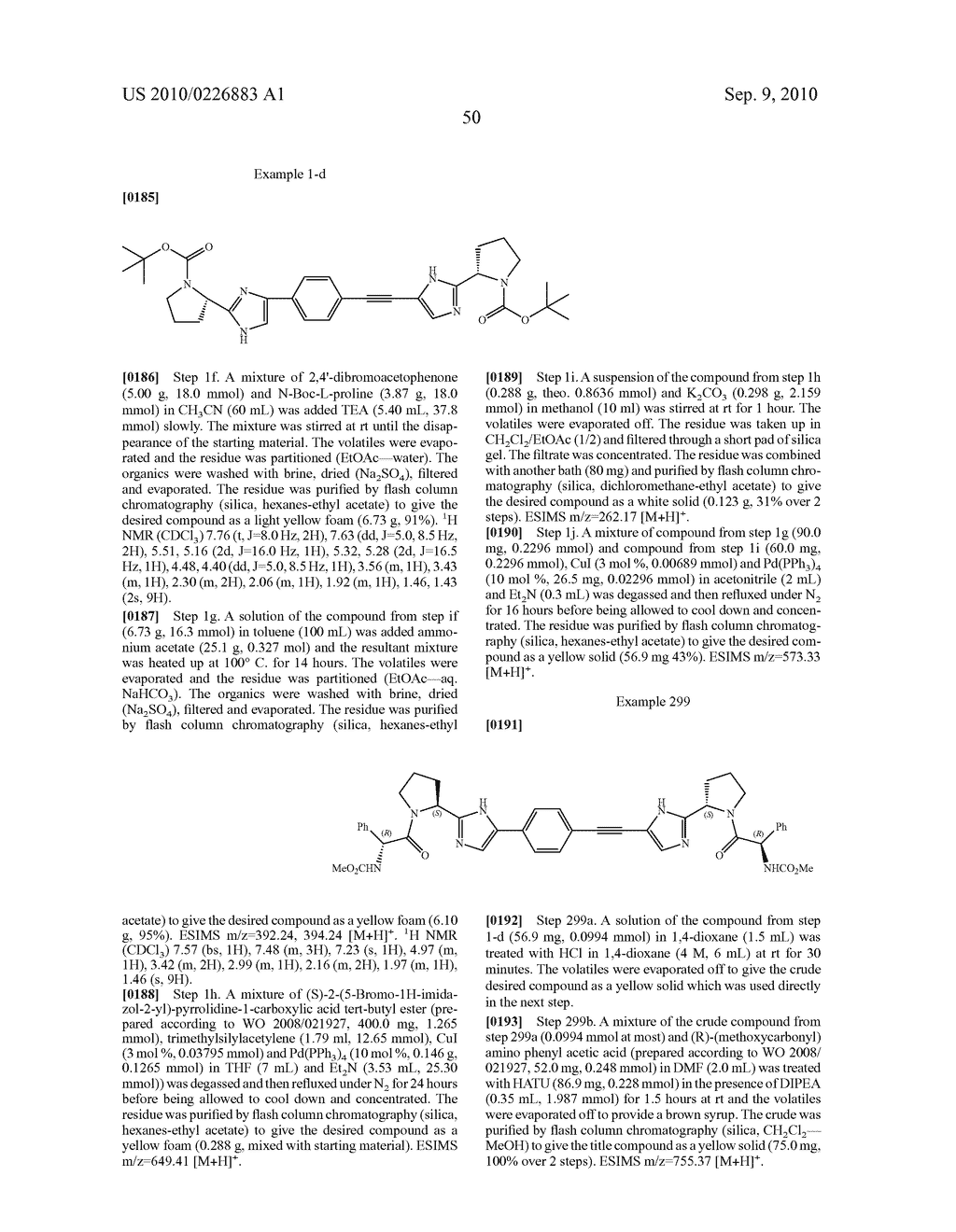 LINKED DIIMIDAZOLE DERIVATIVES - diagram, schematic, and image 51
