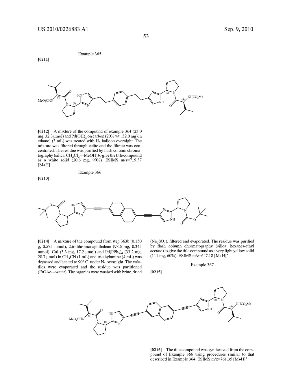 LINKED DIIMIDAZOLE DERIVATIVES - diagram, schematic, and image 54