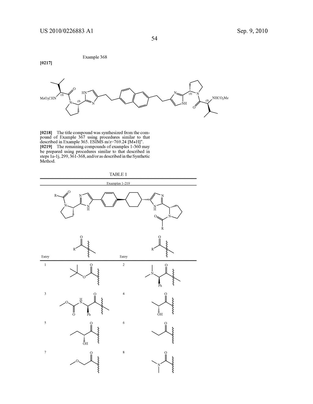 LINKED DIIMIDAZOLE DERIVATIVES - diagram, schematic, and image 55