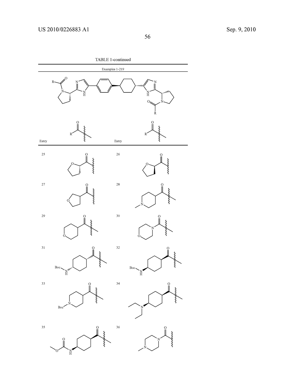 LINKED DIIMIDAZOLE DERIVATIVES - diagram, schematic, and image 57