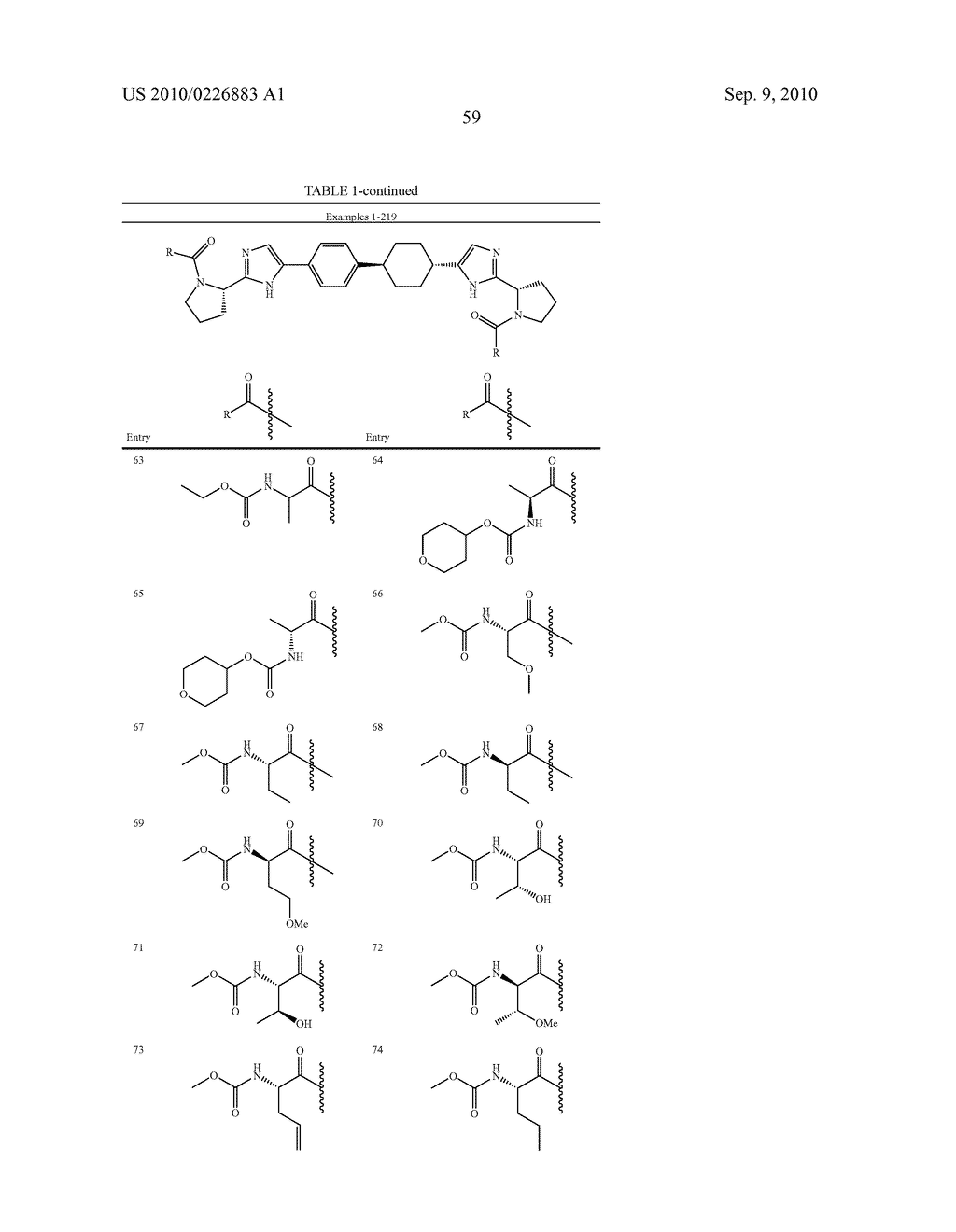 LINKED DIIMIDAZOLE DERIVATIVES - diagram, schematic, and image 60