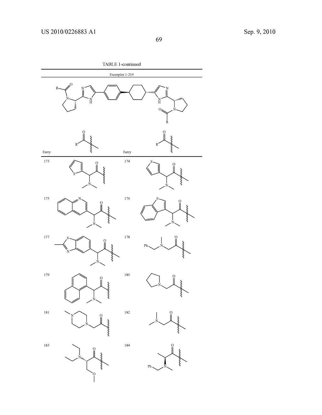 LINKED DIIMIDAZOLE DERIVATIVES - diagram, schematic, and image 70