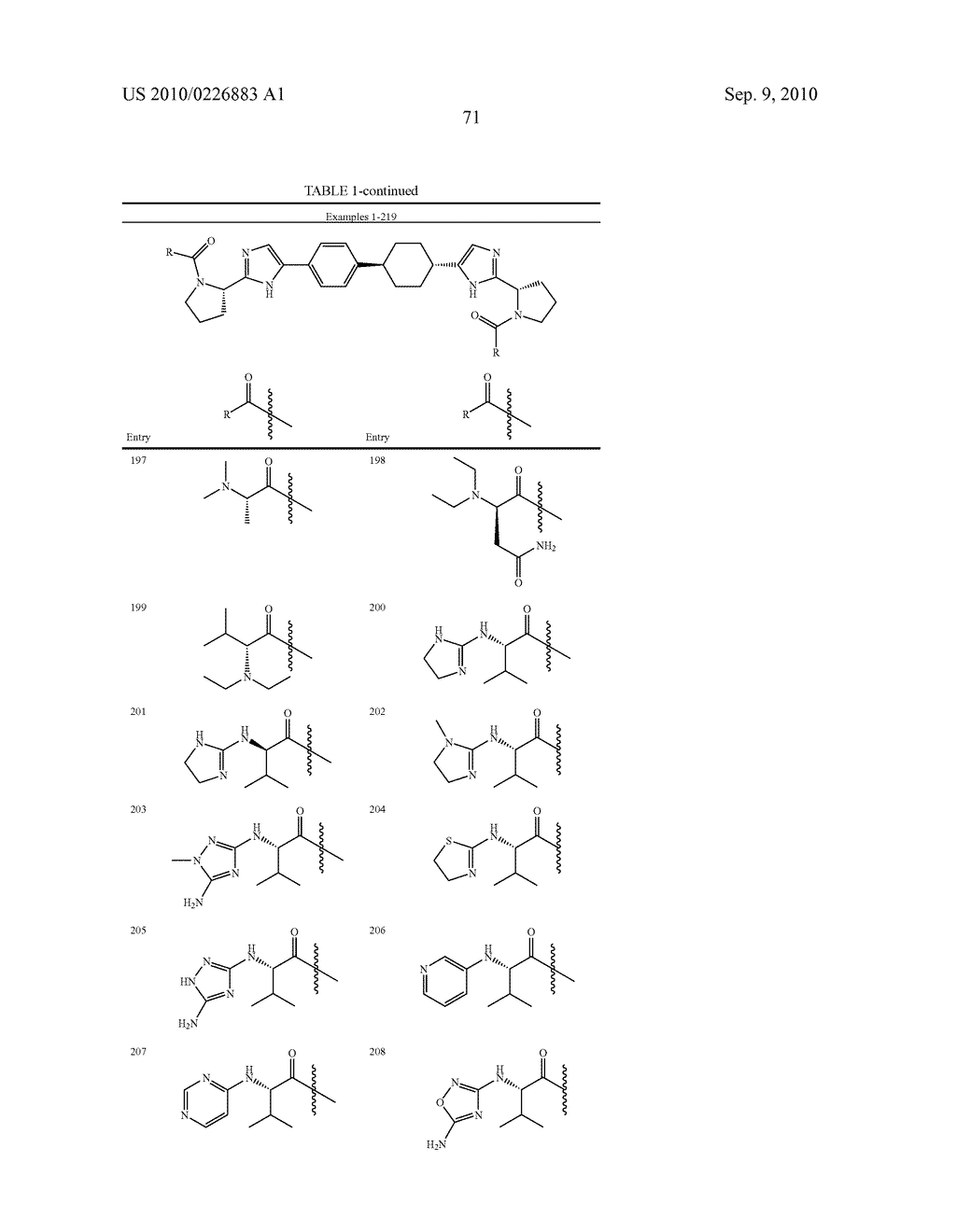 LINKED DIIMIDAZOLE DERIVATIVES - diagram, schematic, and image 72