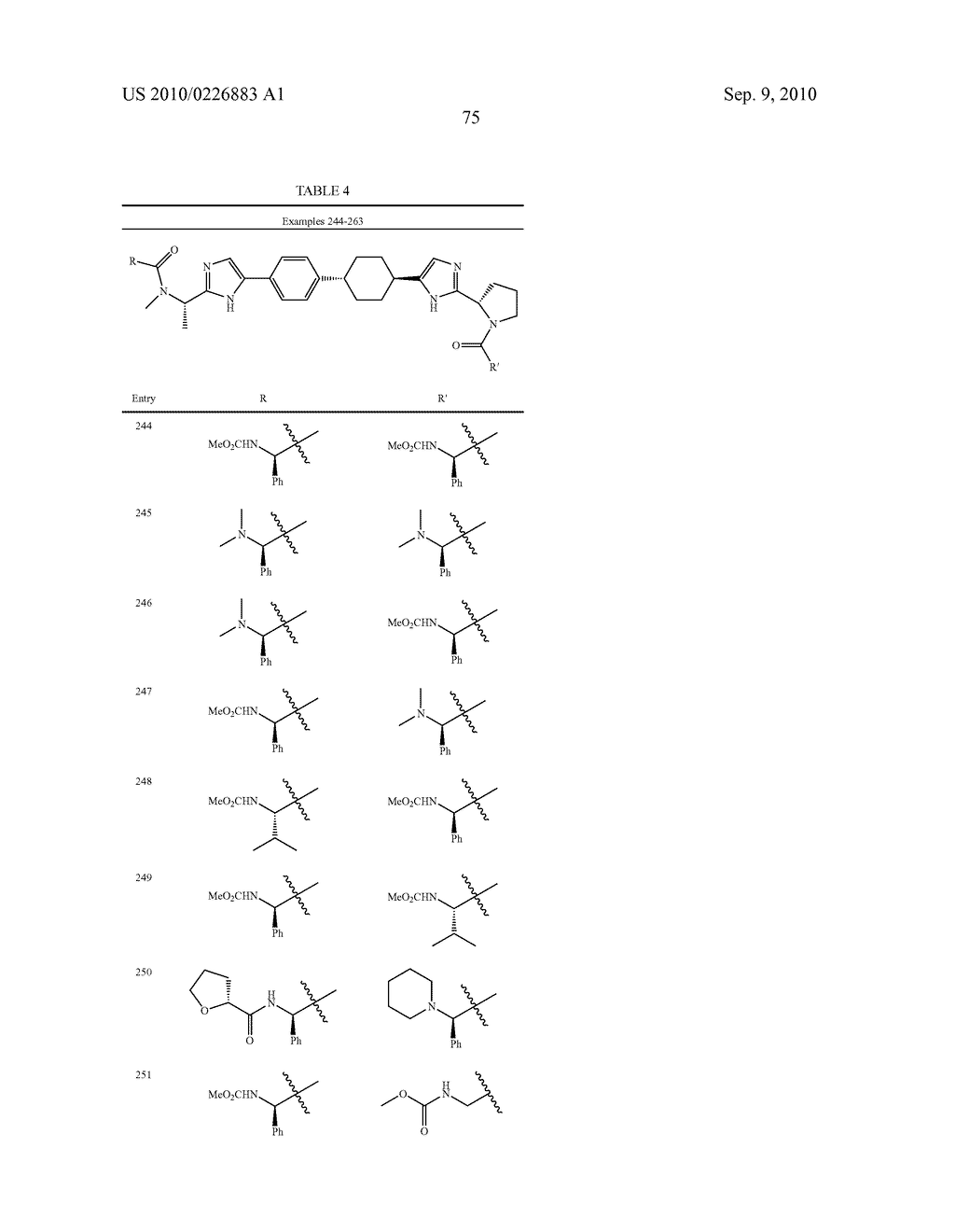 LINKED DIIMIDAZOLE DERIVATIVES - diagram, schematic, and image 76