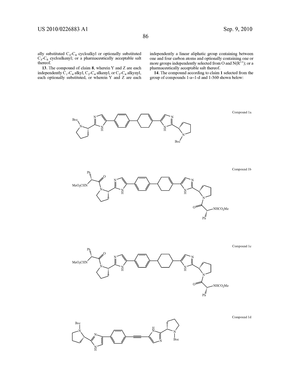 LINKED DIIMIDAZOLE DERIVATIVES - diagram, schematic, and image 87