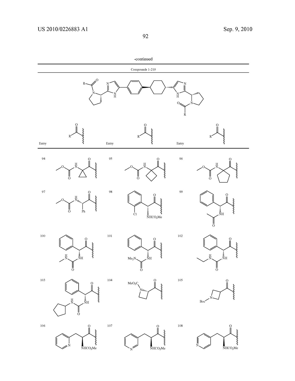 LINKED DIIMIDAZOLE DERIVATIVES - diagram, schematic, and image 93