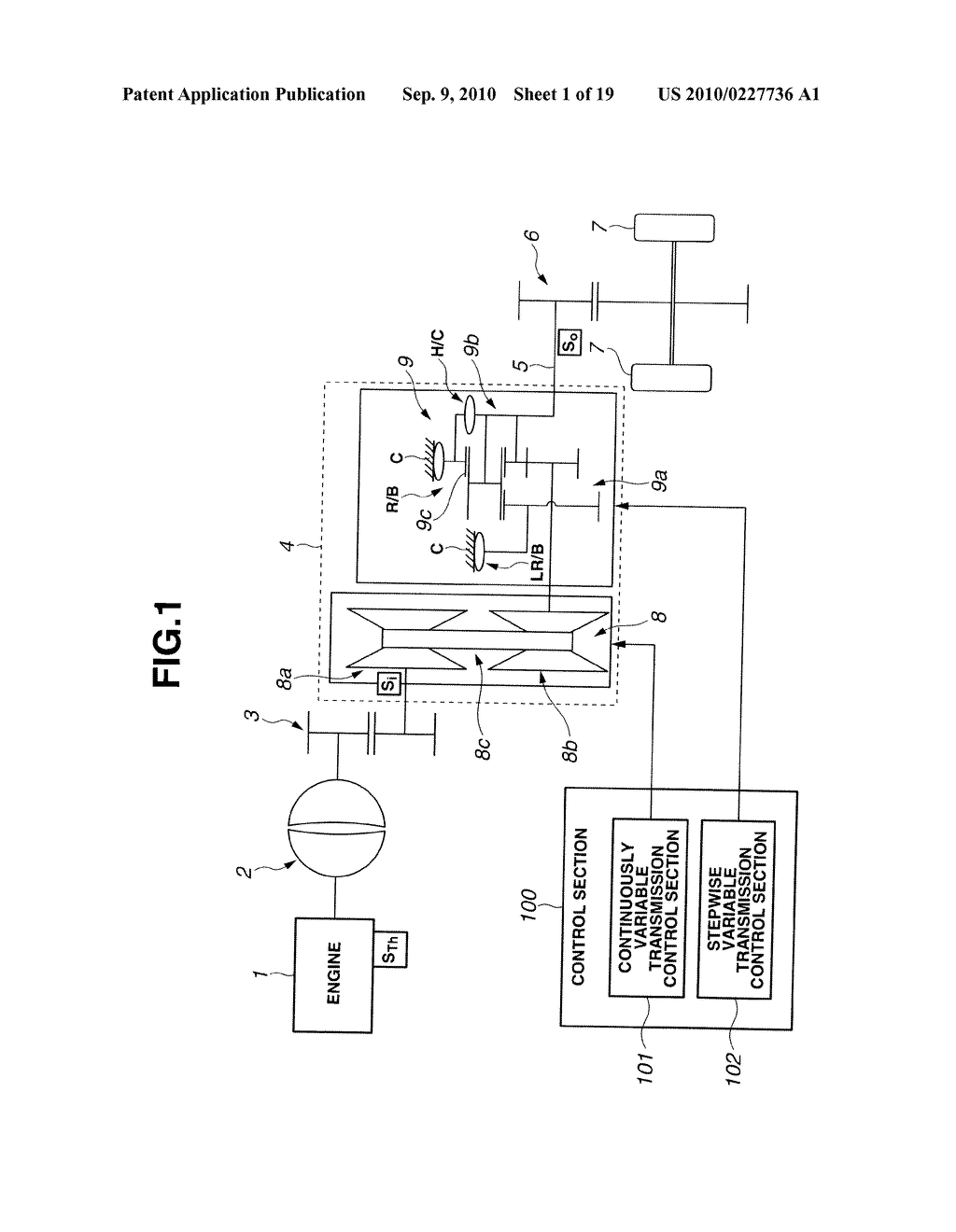CONTROL APPARATUS AND METHOD FOR AUTOMATIC TRANSMISSION - diagram, schematic, and image 02
