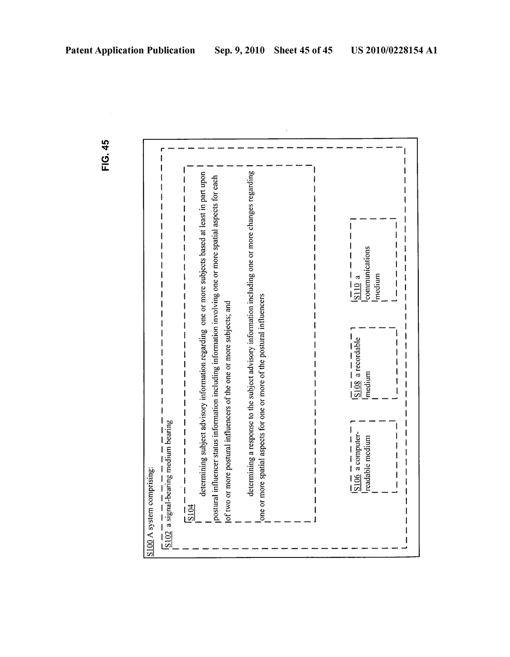 Postural information system and method including determining response to subject advisory information - diagram, schematic, and image 46