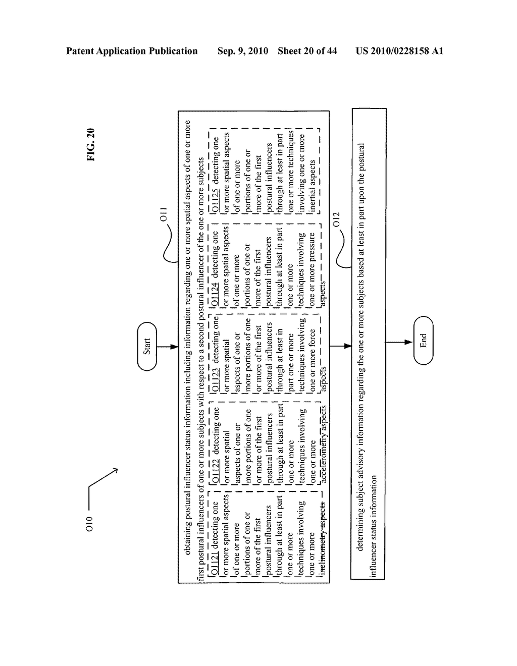 POSTURAL INFORMATION SYSTEM AND METHOD INCLUDING DEVICE LEVEL DETERMINING OF SUBJECT ADVISORY INFORMATION BASED ON SUBJECT STATUS INFORMATION AND POSTURAL INFLUENCER STATUS INFORMATION - diagram, schematic, and image 21