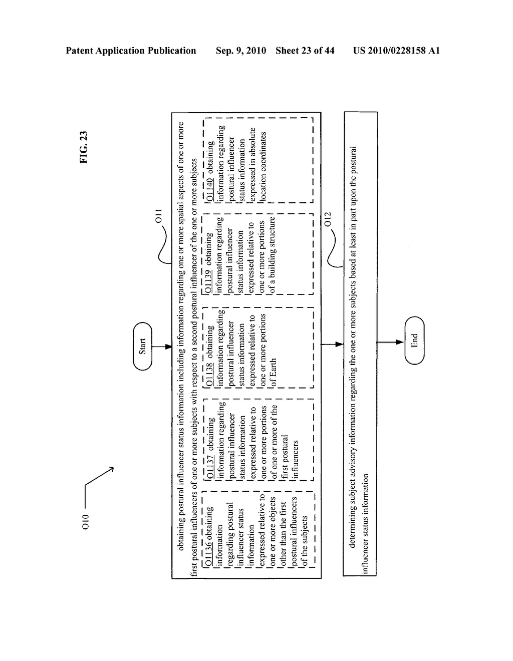 POSTURAL INFORMATION SYSTEM AND METHOD INCLUDING DEVICE LEVEL DETERMINING OF SUBJECT ADVISORY INFORMATION BASED ON SUBJECT STATUS INFORMATION AND POSTURAL INFLUENCER STATUS INFORMATION - diagram, schematic, and image 24