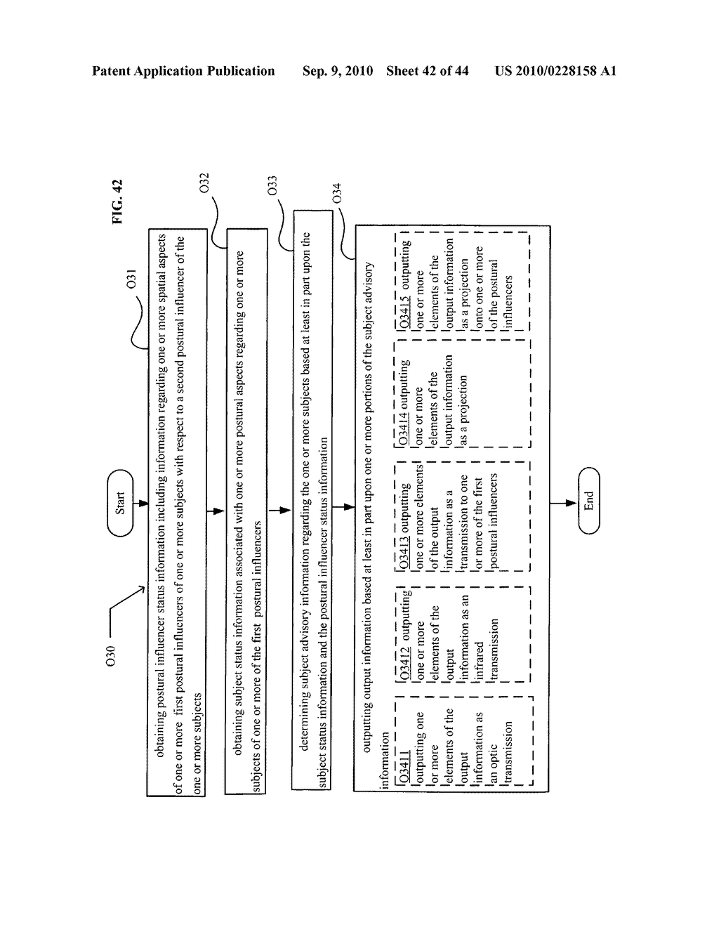 POSTURAL INFORMATION SYSTEM AND METHOD INCLUDING DEVICE LEVEL DETERMINING OF SUBJECT ADVISORY INFORMATION BASED ON SUBJECT STATUS INFORMATION AND POSTURAL INFLUENCER STATUS INFORMATION - diagram, schematic, and image 43