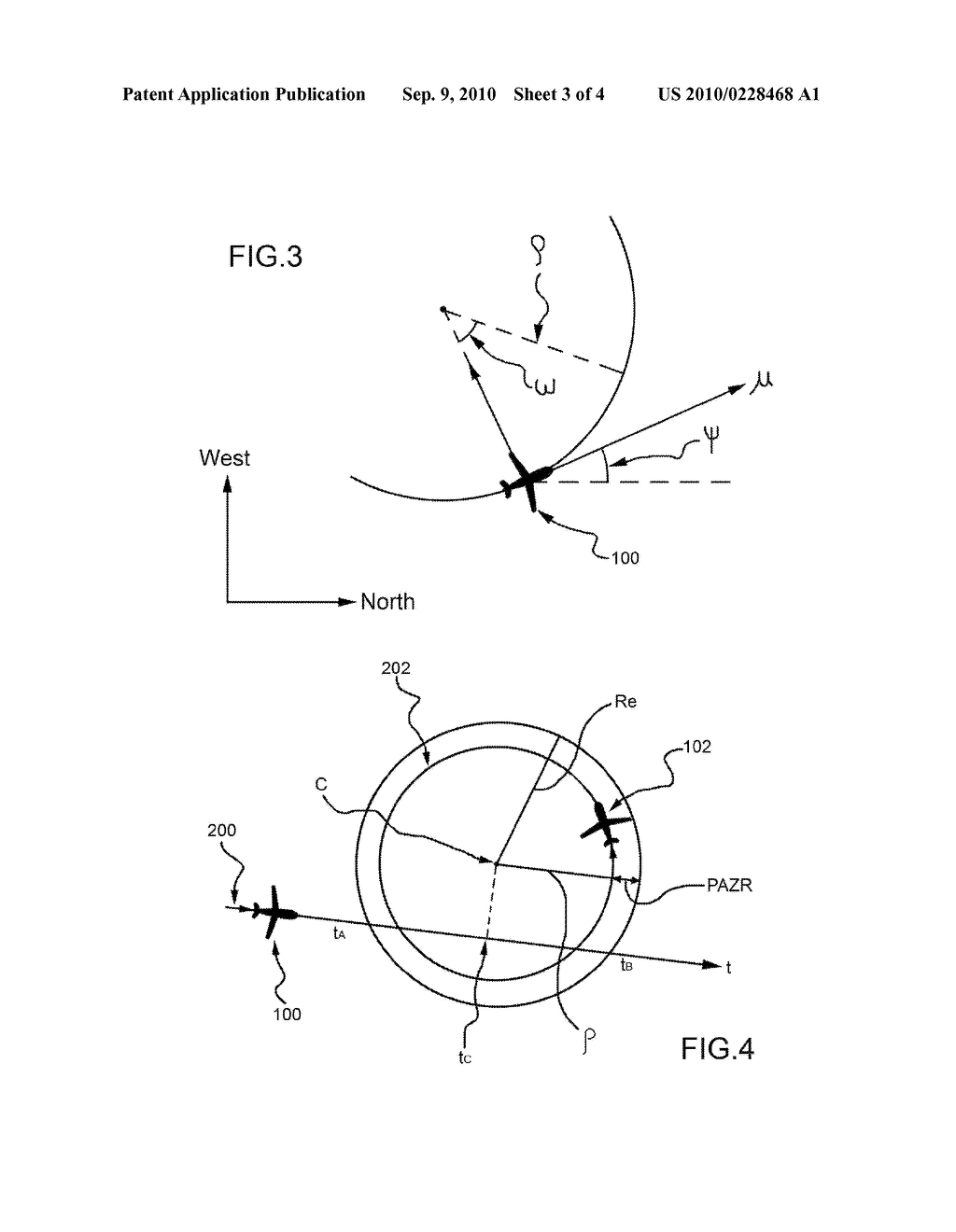 METHOD OF COLLISION PREDICTION BETWEEN AN AIR VEHICLE AND AN AIRBORNE OBJECT - diagram, schematic, and image 04