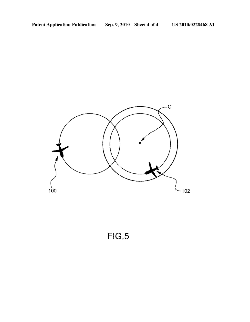 METHOD OF COLLISION PREDICTION BETWEEN AN AIR VEHICLE AND AN AIRBORNE OBJECT - diagram, schematic, and image 05